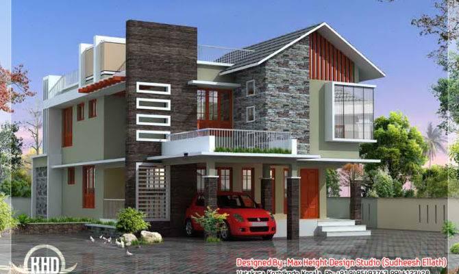 Feet Contemporary Modern Home Design Kerala