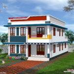 Feet Flat Roof House Elevation Kerala Home Design Floor