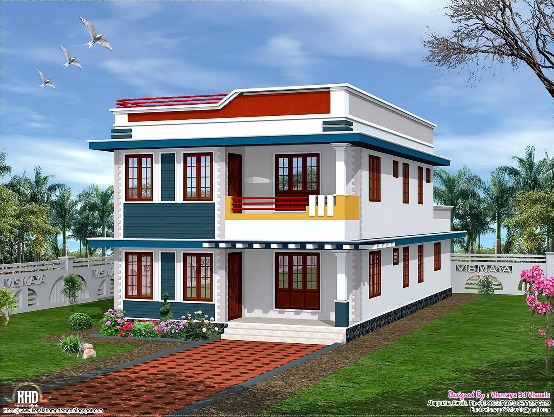 Feet Flat Roof House Elevation Kerala Home Design Floor Home Plans Blueprints 58143