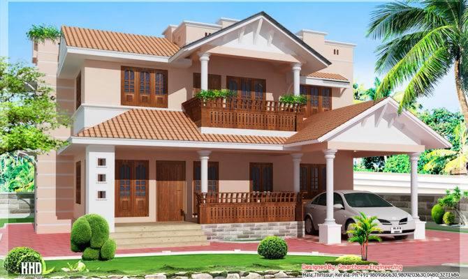 Feet Kerala Style Bedroom Villa Home