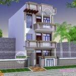 Feet Land Bedrooms Design Style Rental House Plan