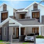 Feet Modern Sloping Roof House Cost Kerala