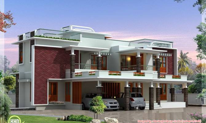 Feet Modern Unique Villa Design Kerala Home