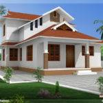 Feet Sloping Roof Villa Design Home Sweet