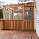 Fiberglass Roof Panels Wood Deck Design Install