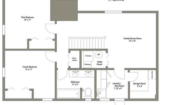 Finished Basement Floor Plans Younger Unger House Plan