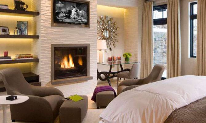 Fireplace Gives Living Room Cozy Look Increases
