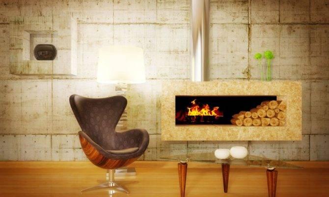 Fireplace Wood Floor Living Room House