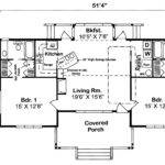 First Floor Plan Bungalow Cottage Country House