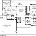 First Floor Plan Craftsman Ranch Traditional House