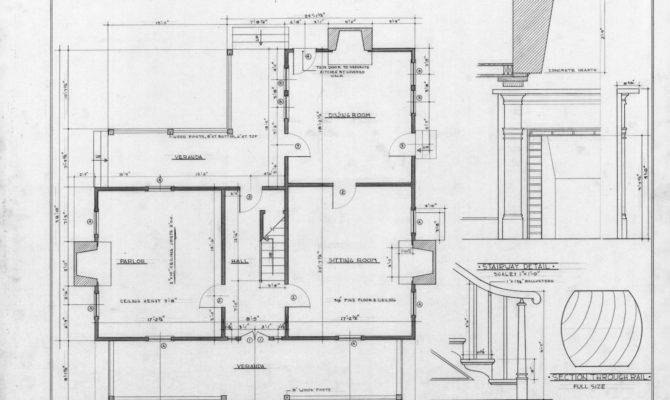 First Floor Plan Details Old Corpening House Caldwell County