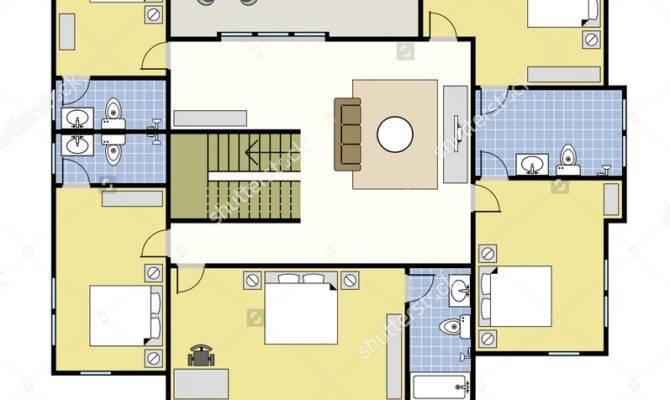 First Second Floor Plan Floorplan House Home Building