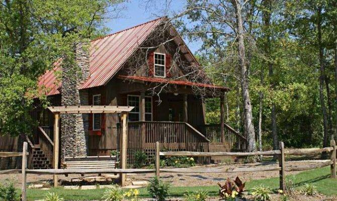 Fish Camp Cabin Plan Traditional Exterior Atlanta