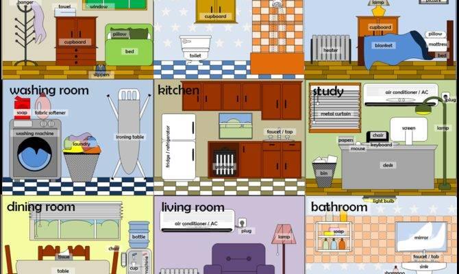Flashcards Rooms House Billion Estates