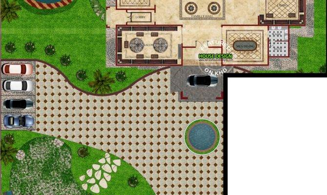 Flat Roof Arabian House Plan Kerala Home Design