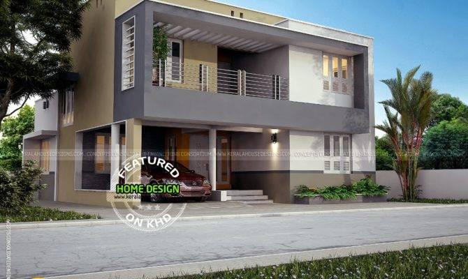 Flat Roof Contemporary House Feet Kerala Home Design