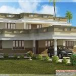 Flat Roof Home Design Bedroom Indian House Plans