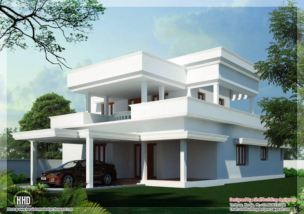 Flat Roof Home Design Kerala Architecture House Plans Home Plans Blueprints 90203
