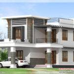 Flat Roof Home Design Kerala Floor Plans