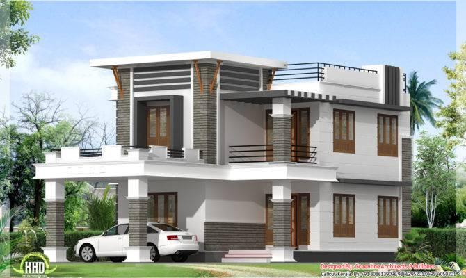 Flat Roof Home Design Kerala