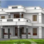 Flat Roof Homes Designs Bhk Modern House Design