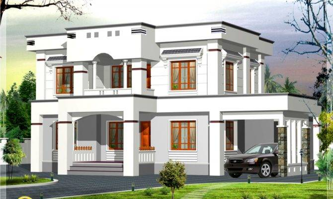 Flat Roof House Plans Designs Simple