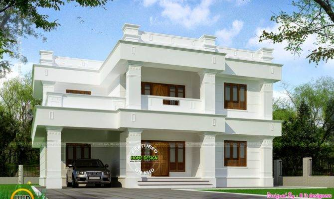 Flat Roof Square Yards House Kerala Home Design Floor Plans Home Plans Blueprints 59409
