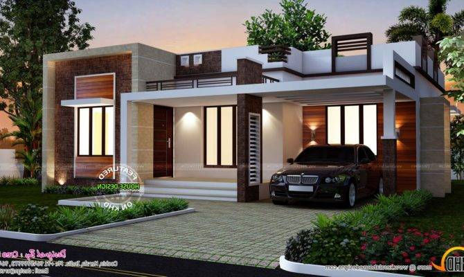 Flat Roofed Small House Design Planning Roof Designs