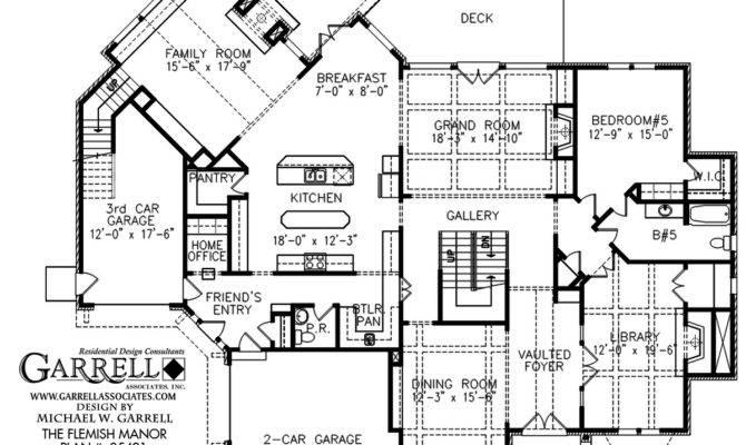 Flemish Manor House Plan Estate Plans