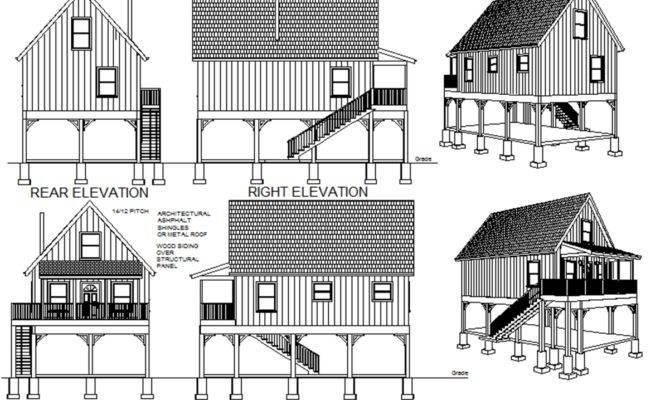 Flood Plain Cabin Plans Blueprints Construction Documents Sds