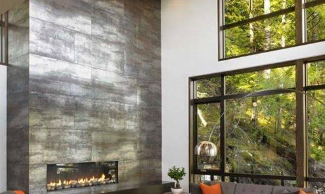 Floor Ceiling Fireplace Home Design Ideas