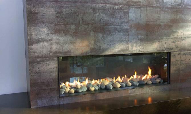 Floor Ceiling Fireplace Living Room Modern