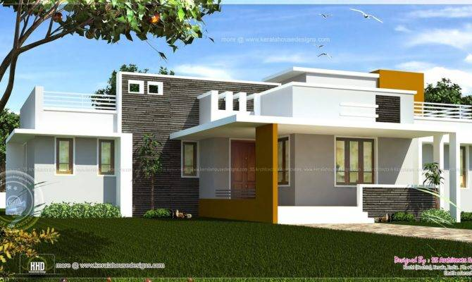 Floor Contemporary House Design Kerala Home Plans