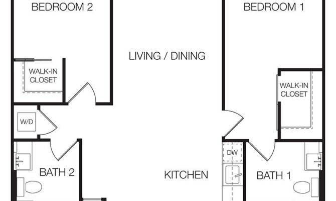 Floor Plan Bedroom Apartment Fromgentogen