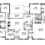 Floor Plan Bedrooms Single Story Five Bedroom Tudor House Plans