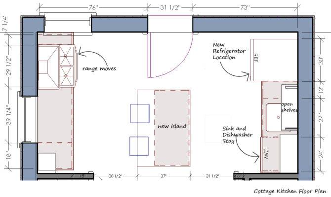 Floor Plan Before Kitchen Same Old Footprint Bold