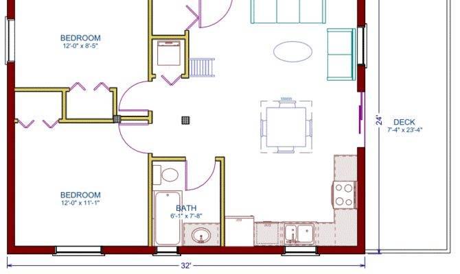 Floor Plan Cottage Sqft Footprint Living Space