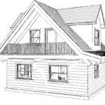 Floor Plan Cottage Square Foot Footprint Sqft Living