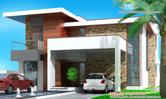 Floor Plan Elevation Modern House Designs Square
