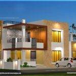Floor Plan Elevation Modern House Indian Plans