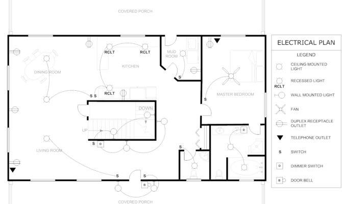 Floor Plan Example House Electrical