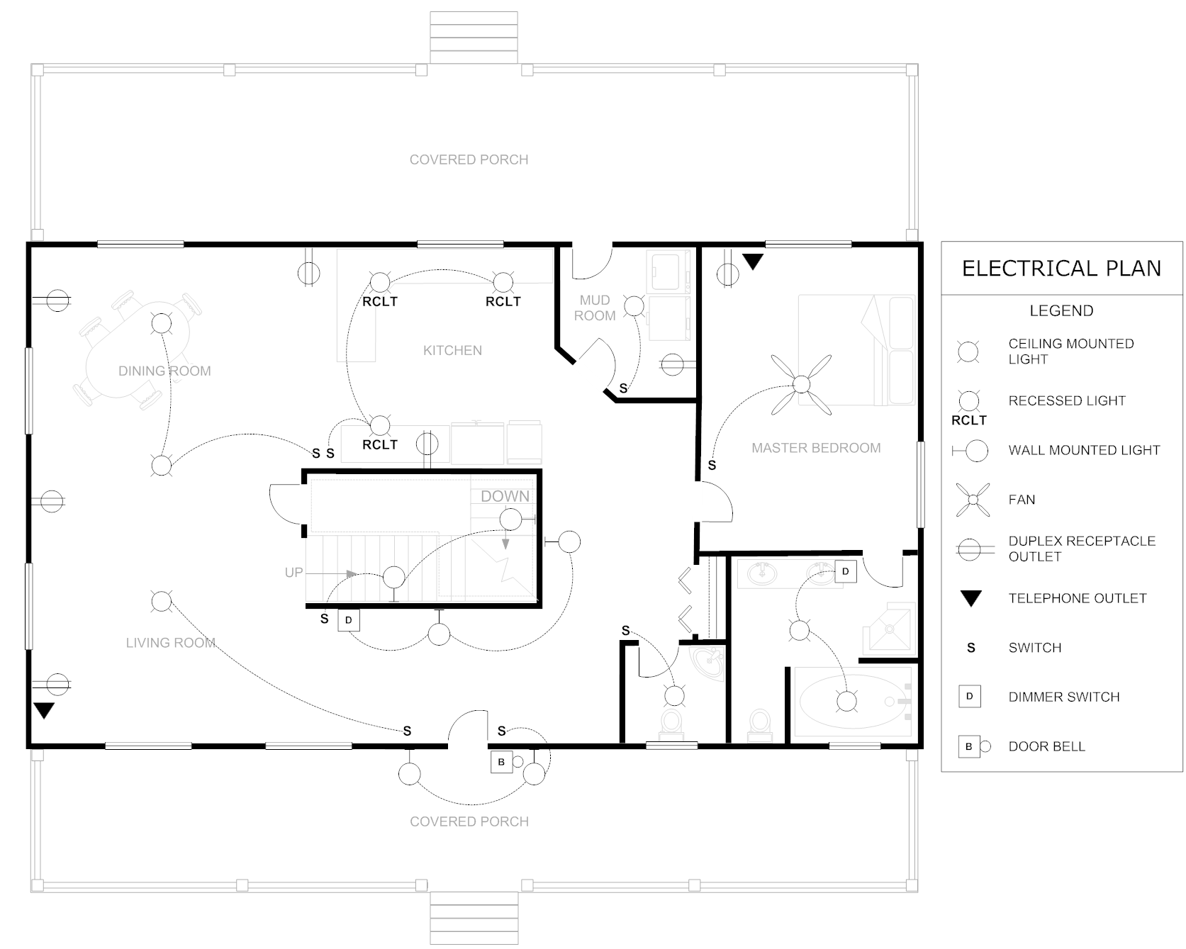 floor plan example house electrical - home plans & blueprints | #45918  house plans - floor plans - architectural styles