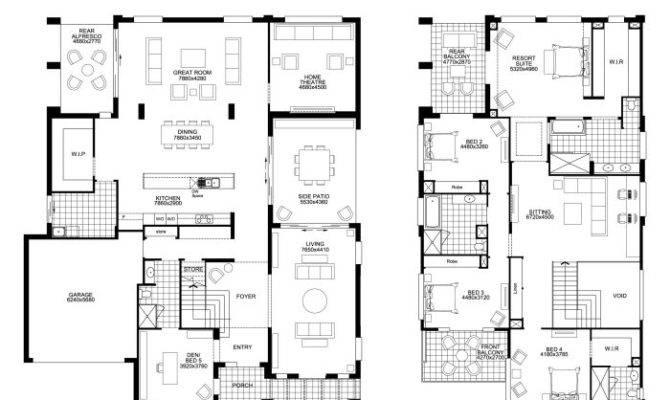 Floor Plan Friday Big Double Storey Bedrooms Building