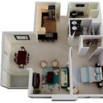 Floor Plan Give One Bedroom Bathroom Apartment Sense