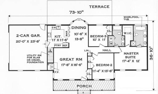 Floor Plan Great One Story