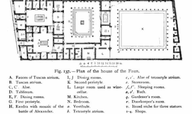 Floor Plan Moreover Roman House