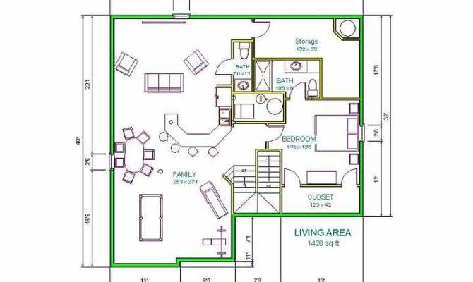 Floor Plan Shows Perfect Man Cave