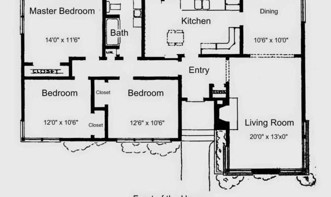 Floor Plan Simple House Bedroom Modern Minimalist Home