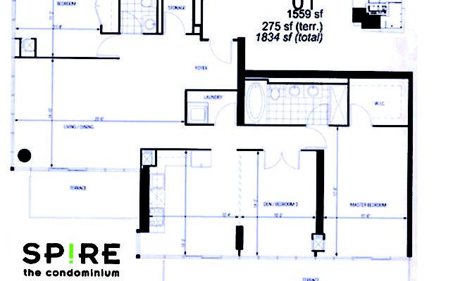 Floor Plan Sub Penthouse Bedroom Den