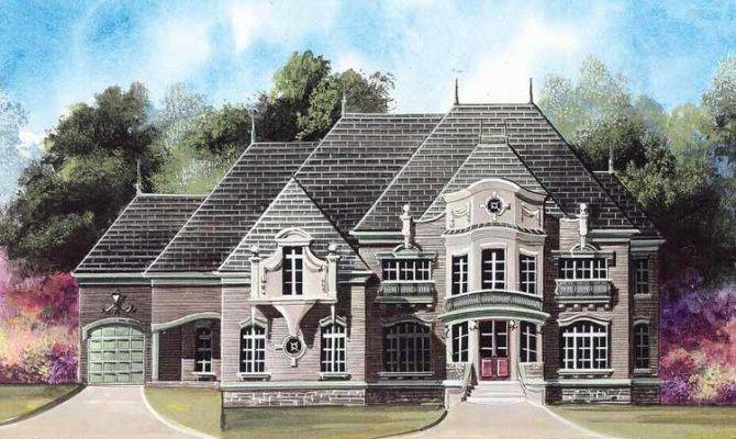 Floor Plans Aflfpw Story Chateauesque House Home